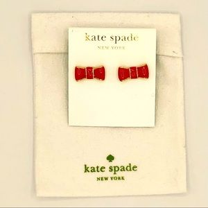 KATE SPADE RED BOW EARRINGS